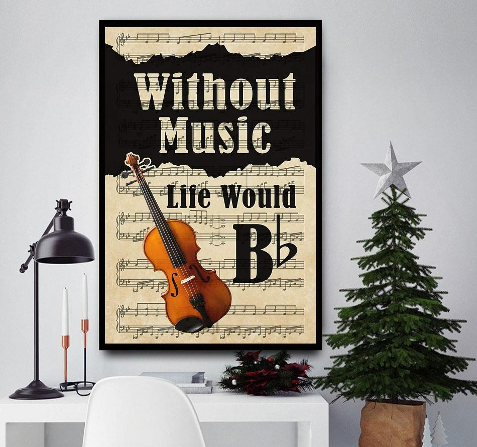 Violin without music life would be lyrics wall art
