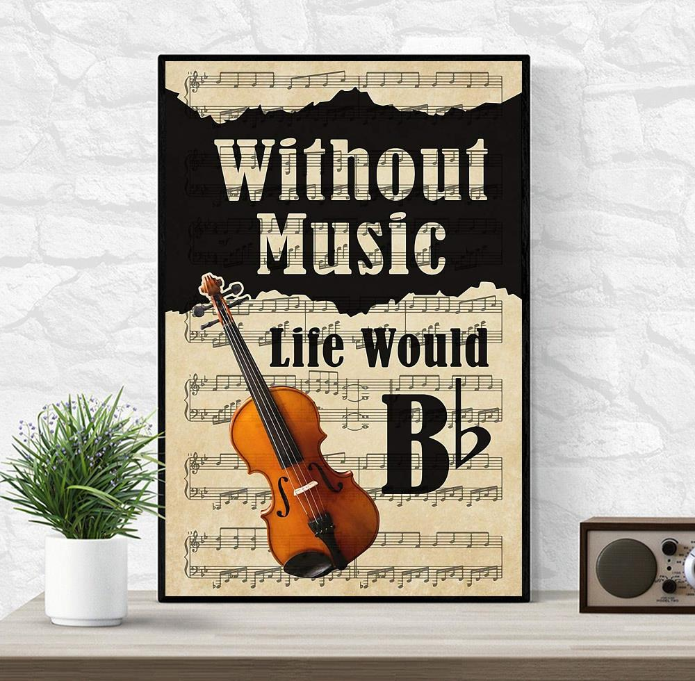 Violin without music life would be lyrics wall art wrapped