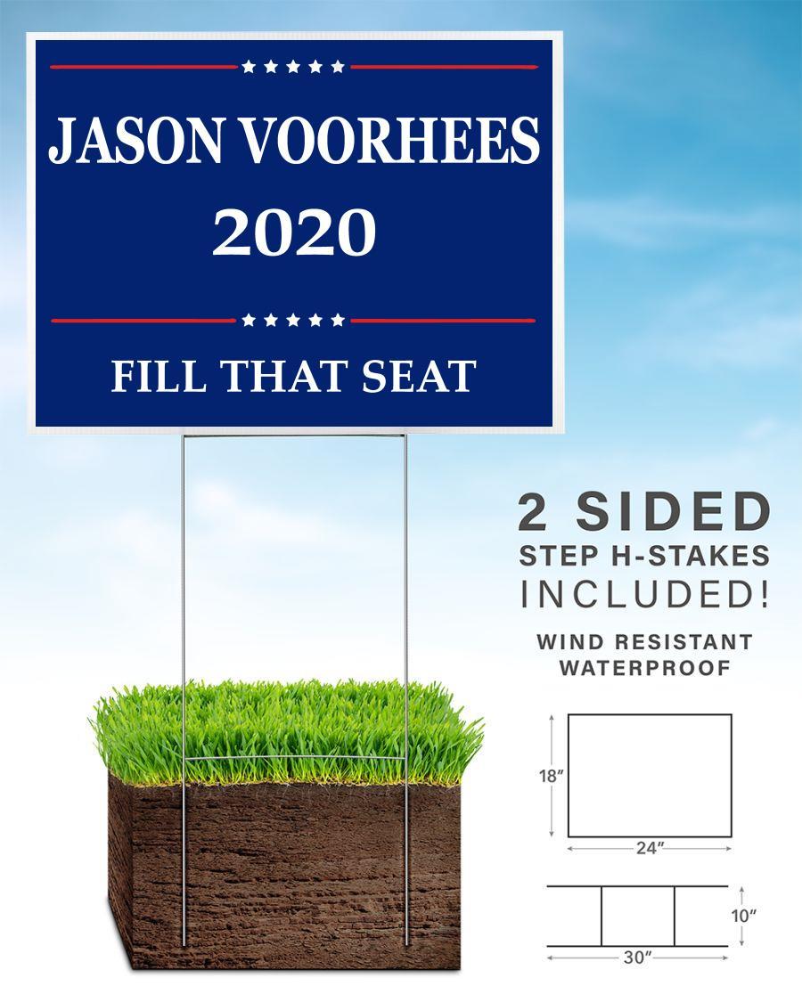Vote for Jason Voorhees 2020 yard sign