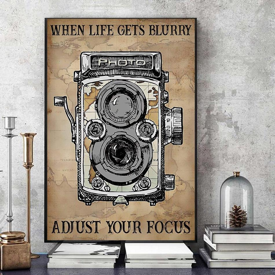 When life gets blurry adjust your focus canvas art