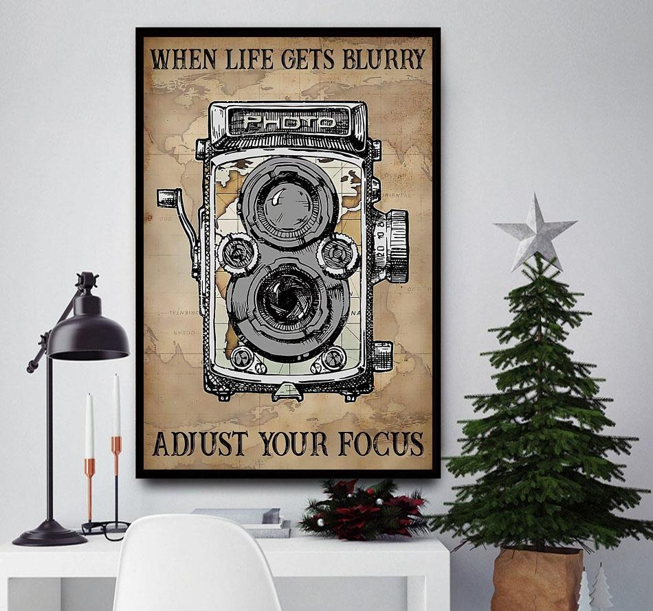 When life gets blurry adjust your focus canvas
