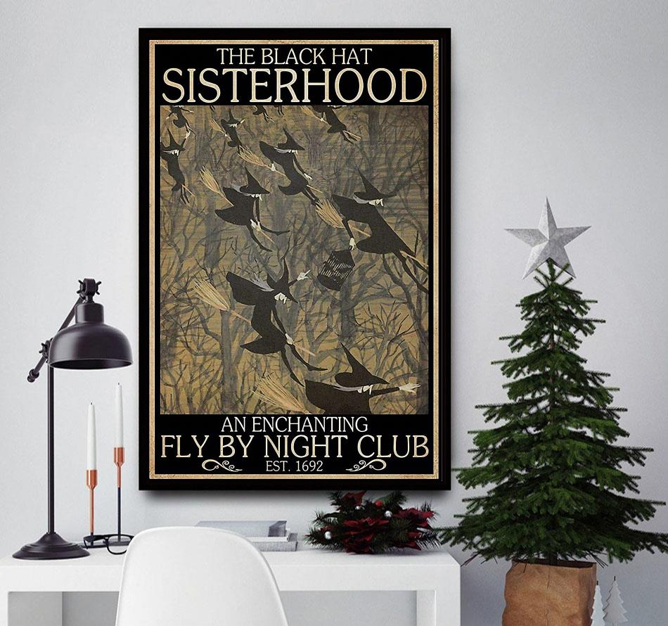 Witches the black hat sisterhood fly by night club poster