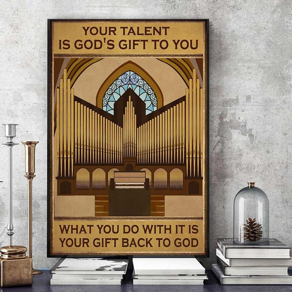 Your talent is god's gift to you vertical piano artist canvas art
