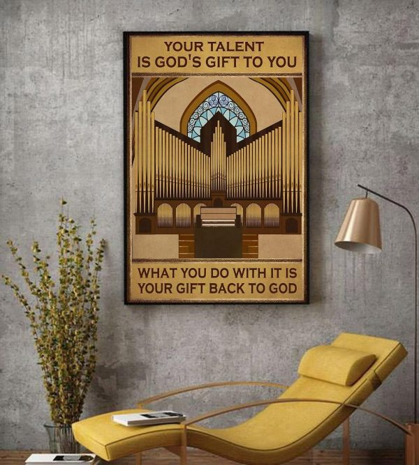Your talent is god's gift to you vertical piano artist canvas decor