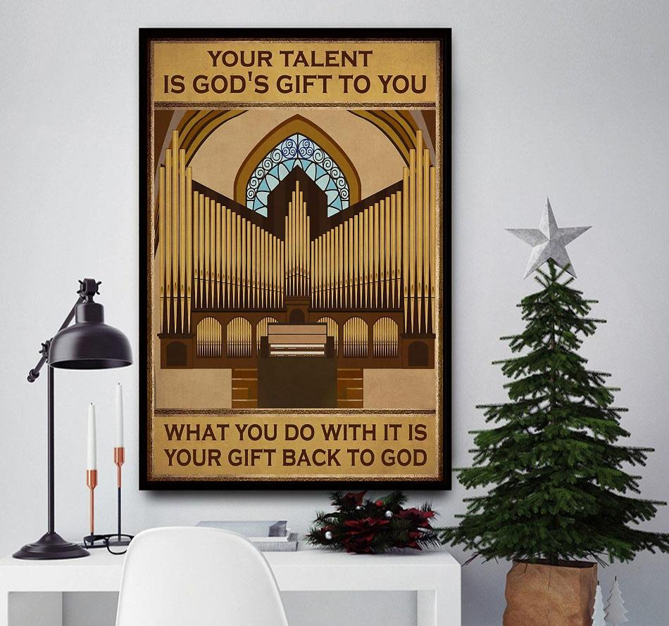 Your talent is god's gift to you vertical piano artist canvas
