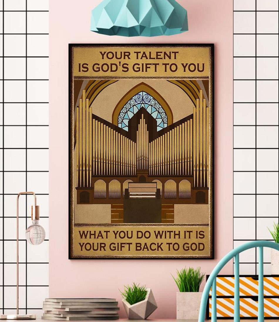 Your talent is god's gift to you vertical piano artist canvas wall