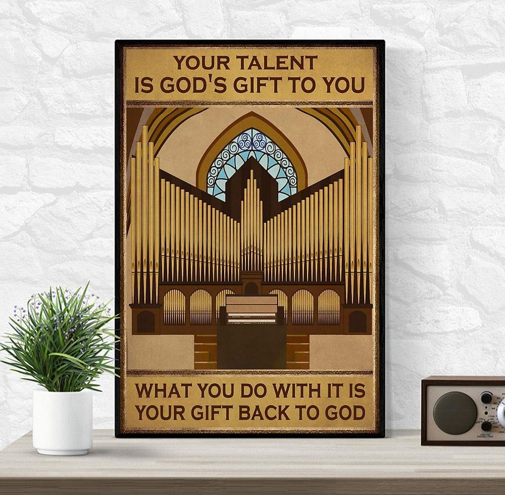 Your talent is god's gift to you vertical piano artist canvas wrapped