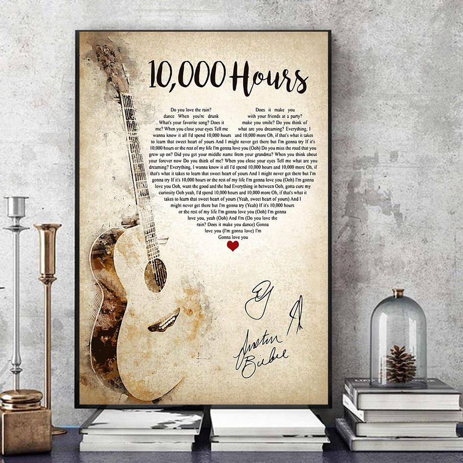 10000 hours shaped lyrics poster art