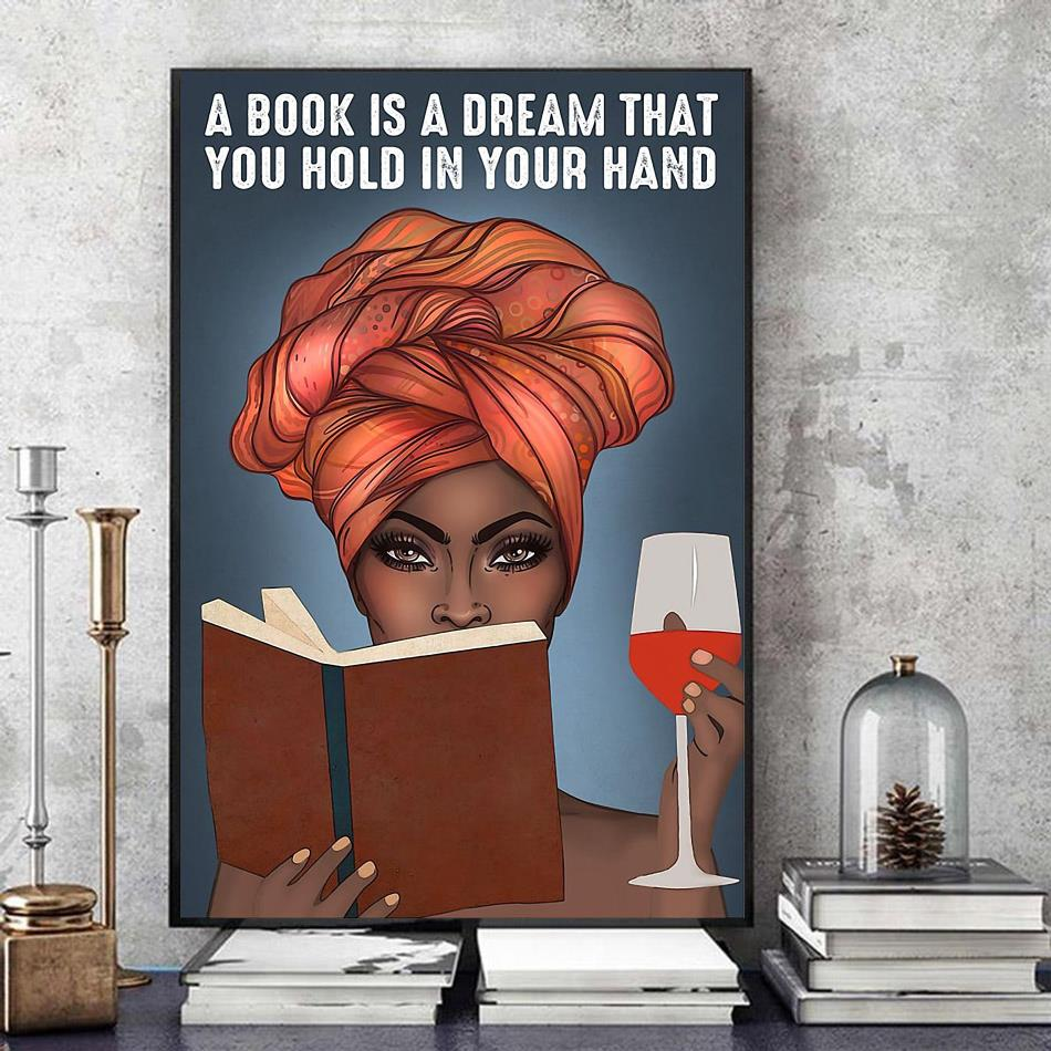 A book is a dream that you hold in your hand vertical poster art