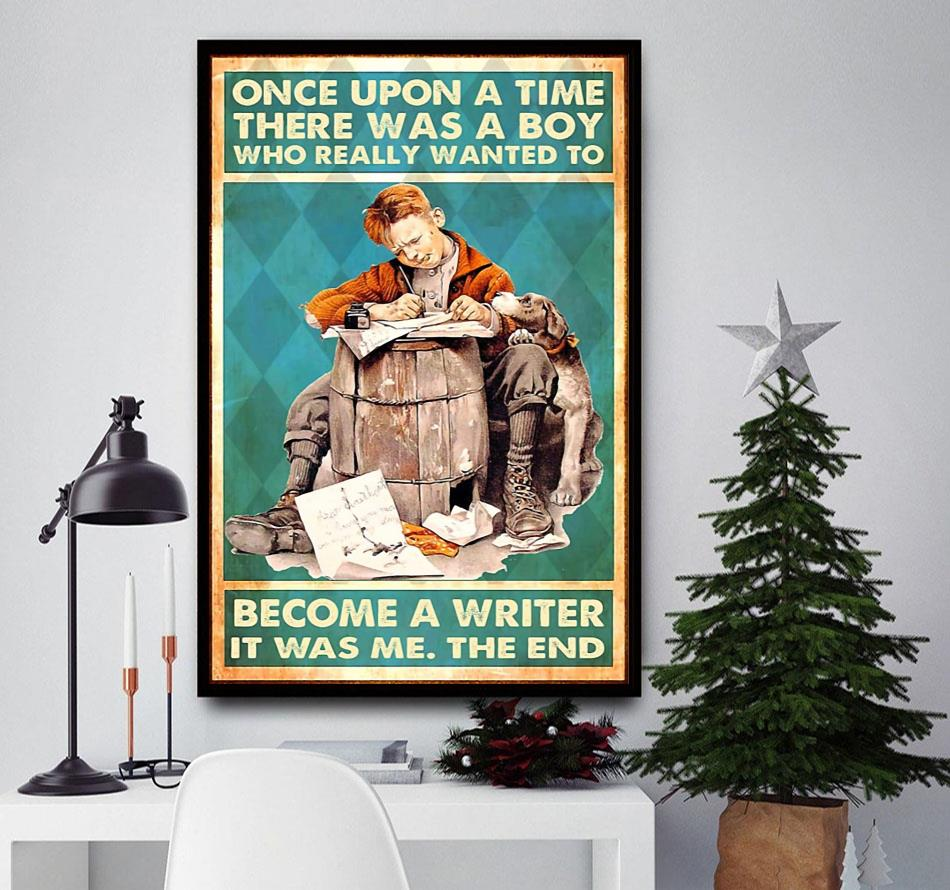 A boy who really wanted to become a writer vertical poster wall decor
