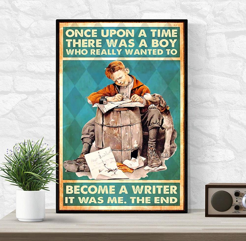 A boy who really wanted to become a writer vertical poster