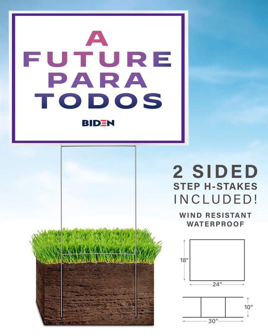 A future para todos Biden yard side