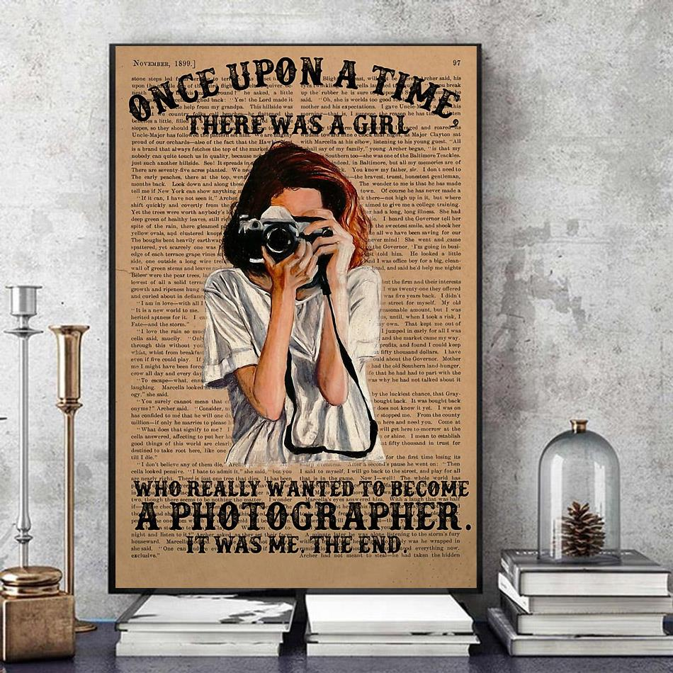 A girl wanted become a photographer poster art