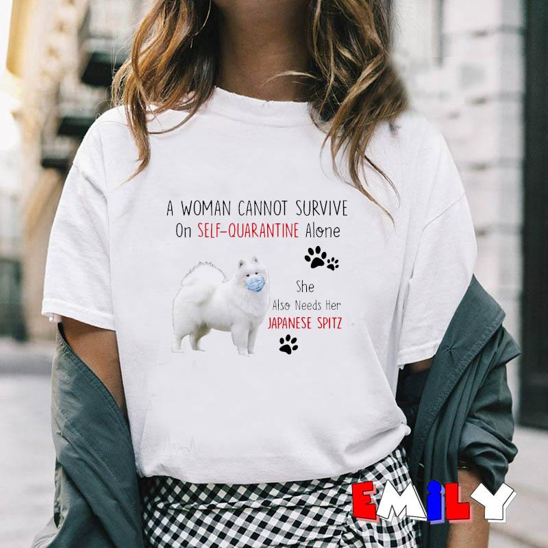 A woman cannot survive on self quarantine alone she also needs Japanese Spitz