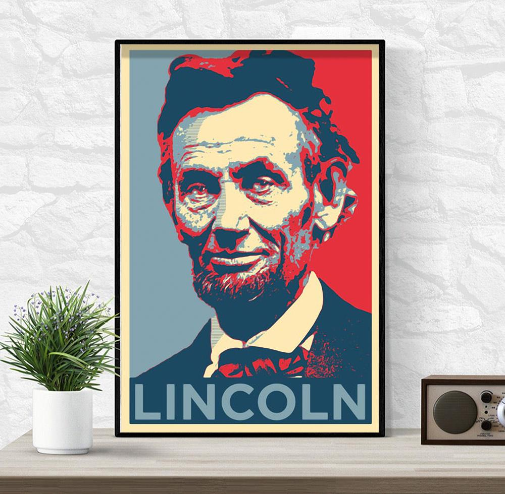Abraham Lincoln original art poster canvas