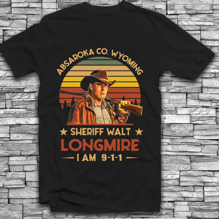 Absaroka Co Wyoming Sheriff Walt Longmire vintage t-shirt