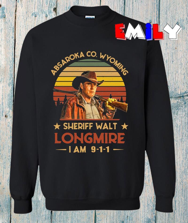Absaroka Co Wyoming Sheriff Walt Longmire vintage t-s sweatshirt