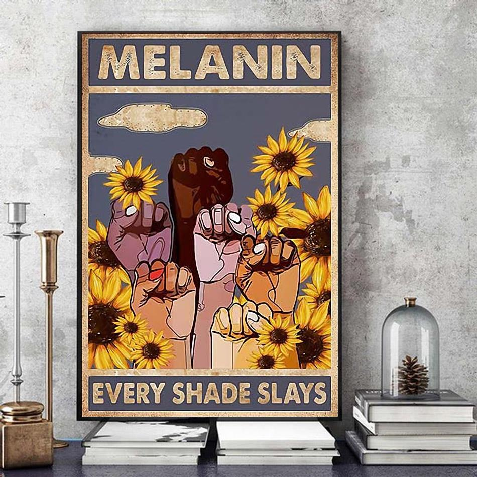 African American Melanin Every Shades Slays poster art