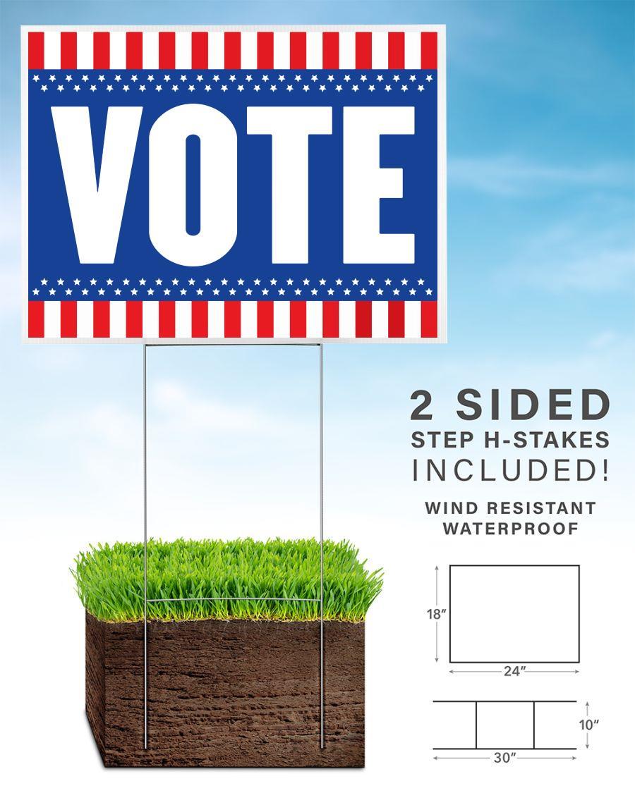 American flag vote yard sign