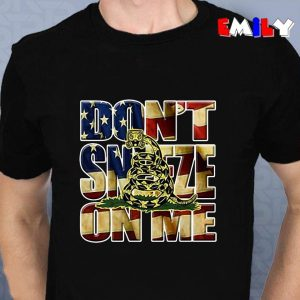 American gadsden flag dont sneeze on me funny unisex t-shirt