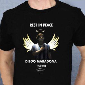 Angel Diego Maradona 1960-2020 signed shirt