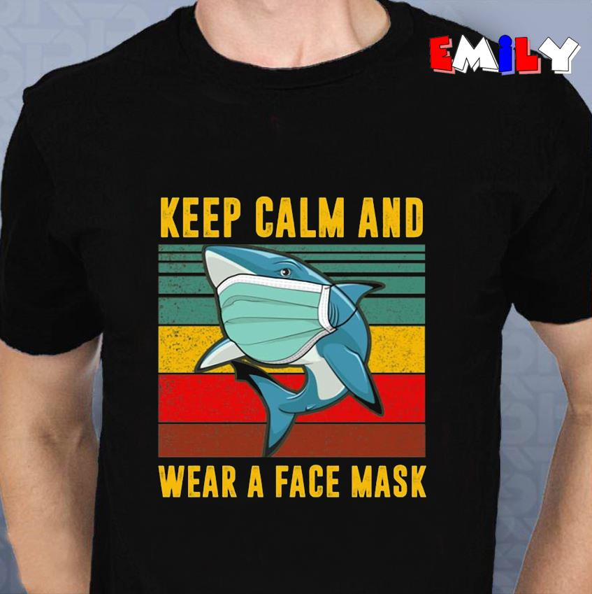 Baby Shark keep calm and wear a face mask vintage unisex t-shirt