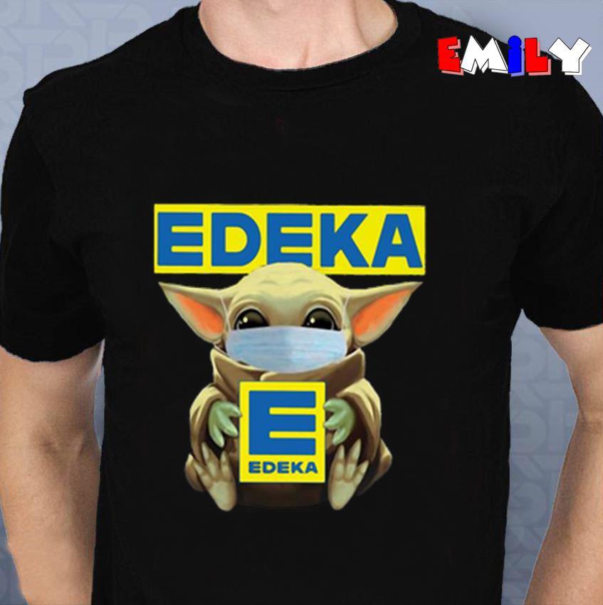 Baby Yoda Edeka quarantine 2020 unisex t-shirt