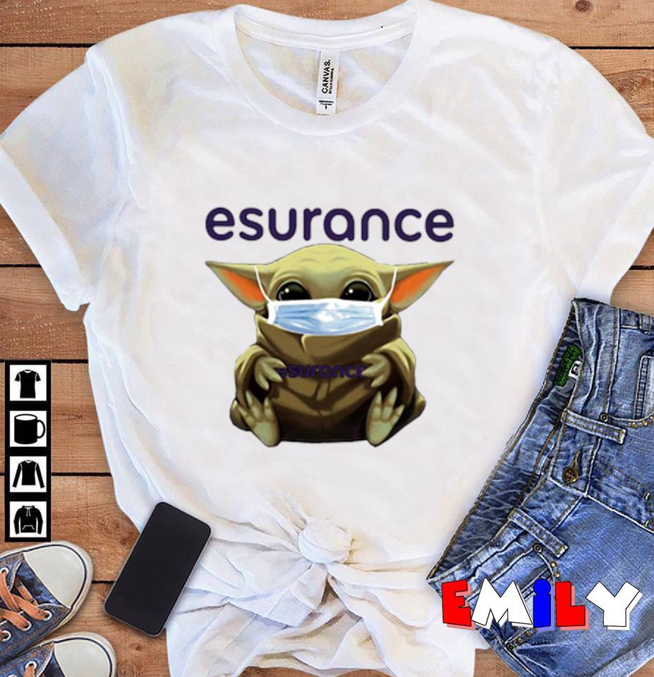 Baby Yoda Esurance quarantine 2020 unisex t-shirt
