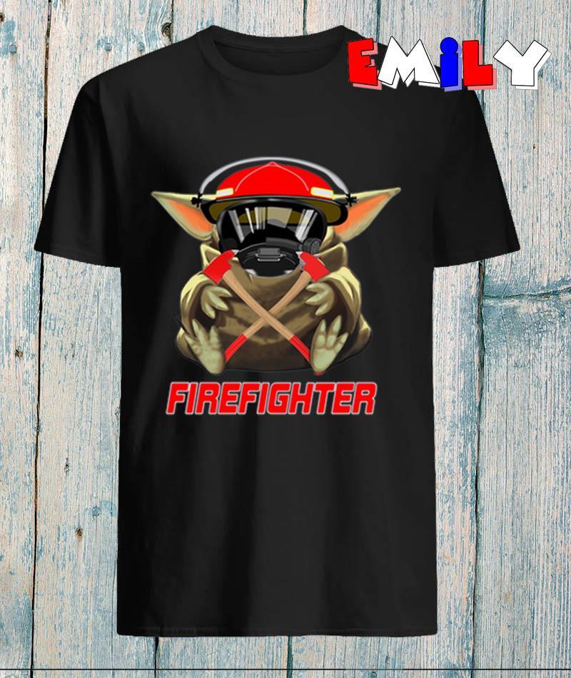 Baby Yoda mashup firefighter
