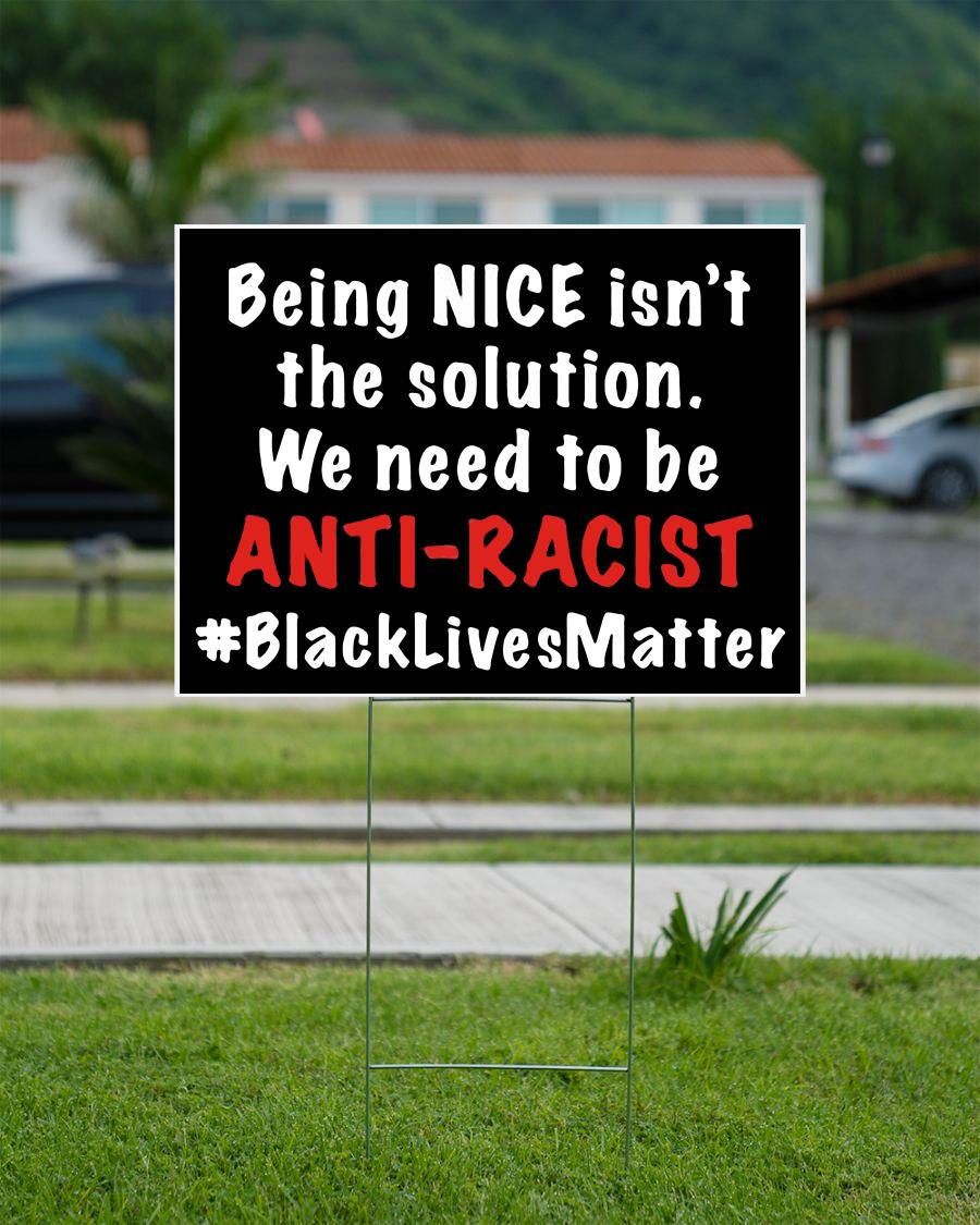 Being nice isn't solution we need anti racist yard side campaign