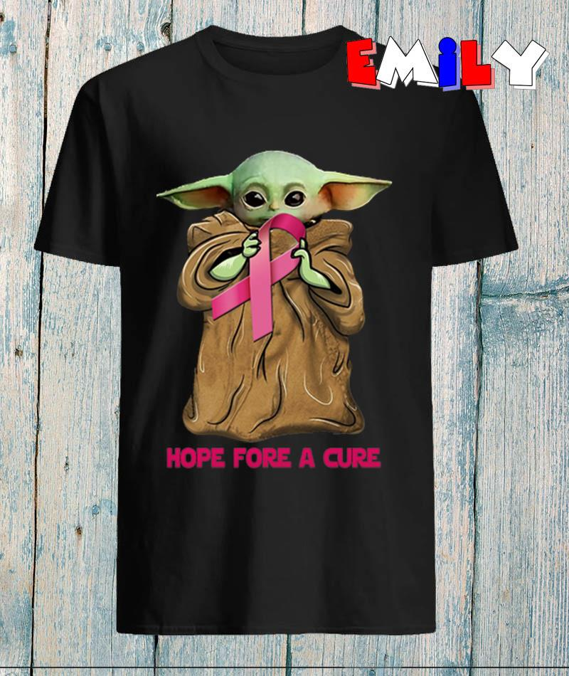 Breast Cancer Baby Yoda hope fore a cure