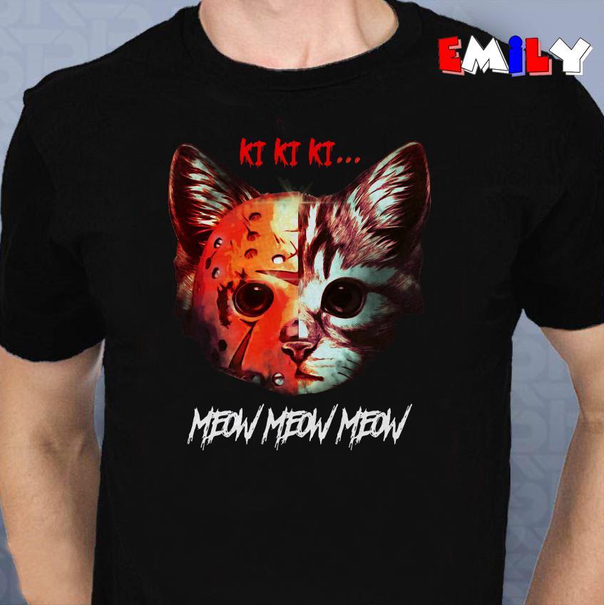 Cat Jason Voorhees kikiki meow Cat Jason Voorhees kikiki meow sweater shirt