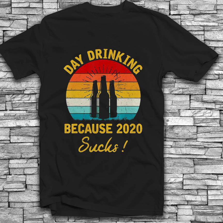 Day drinking because 2020 sucks vintage retro t-s Black