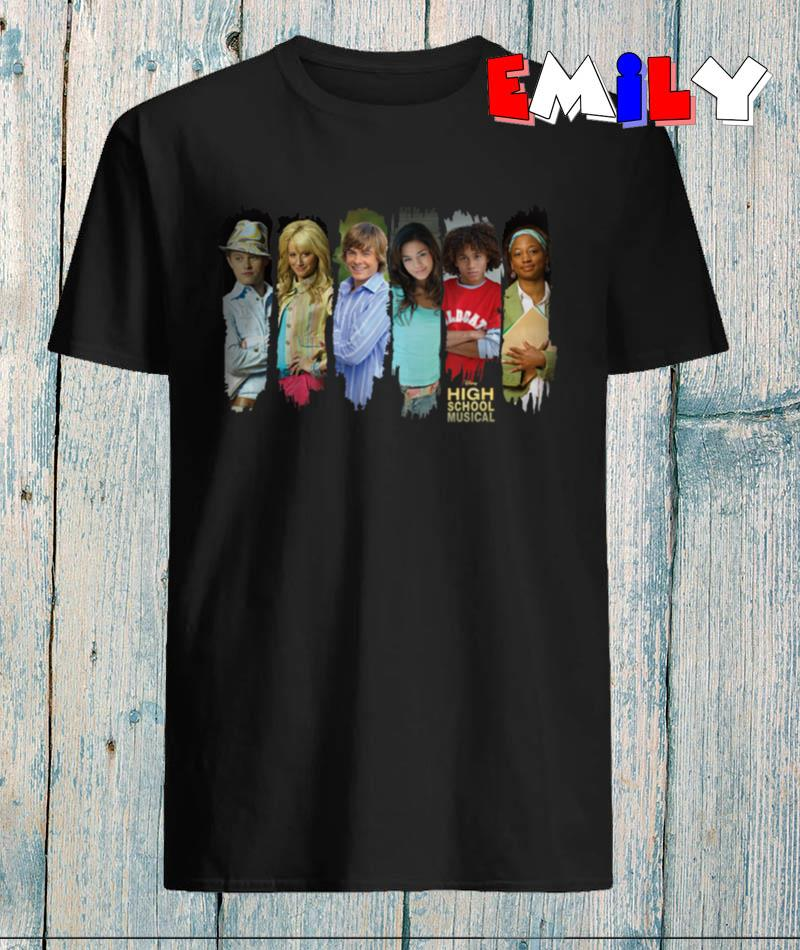Disney Channel High School Musical characters t-shirt