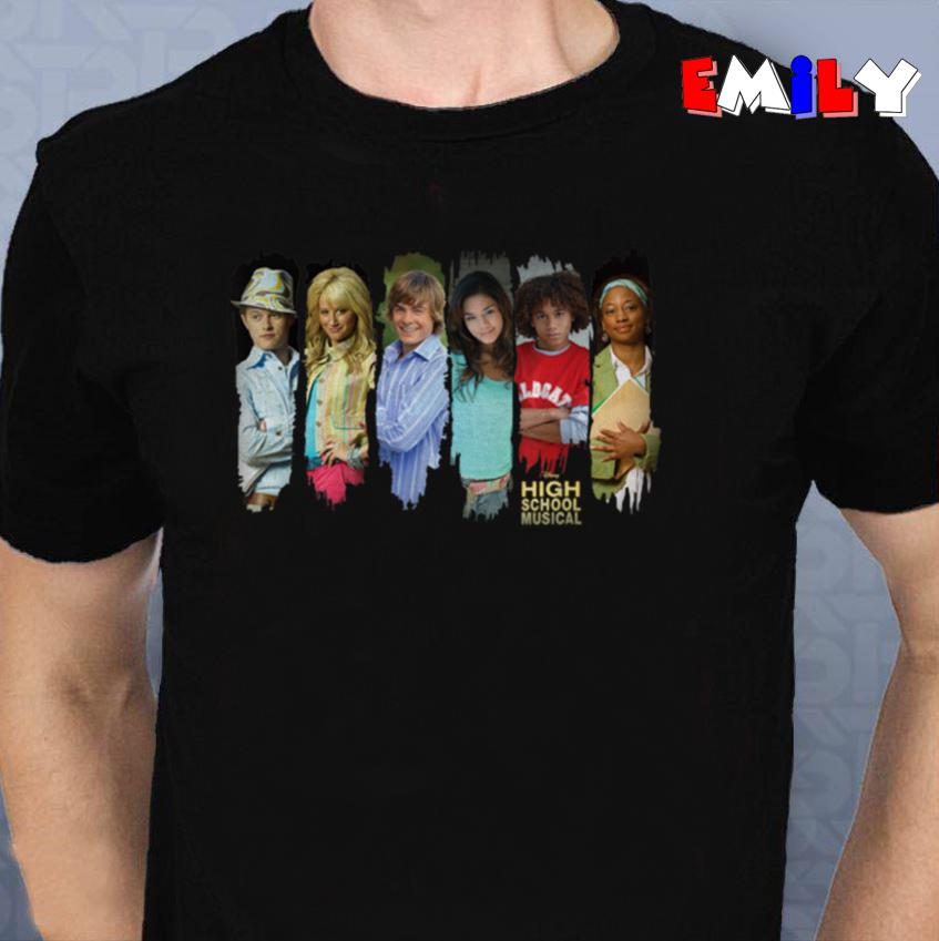 Disney Channel High School Musical characters unisex-t-shirt