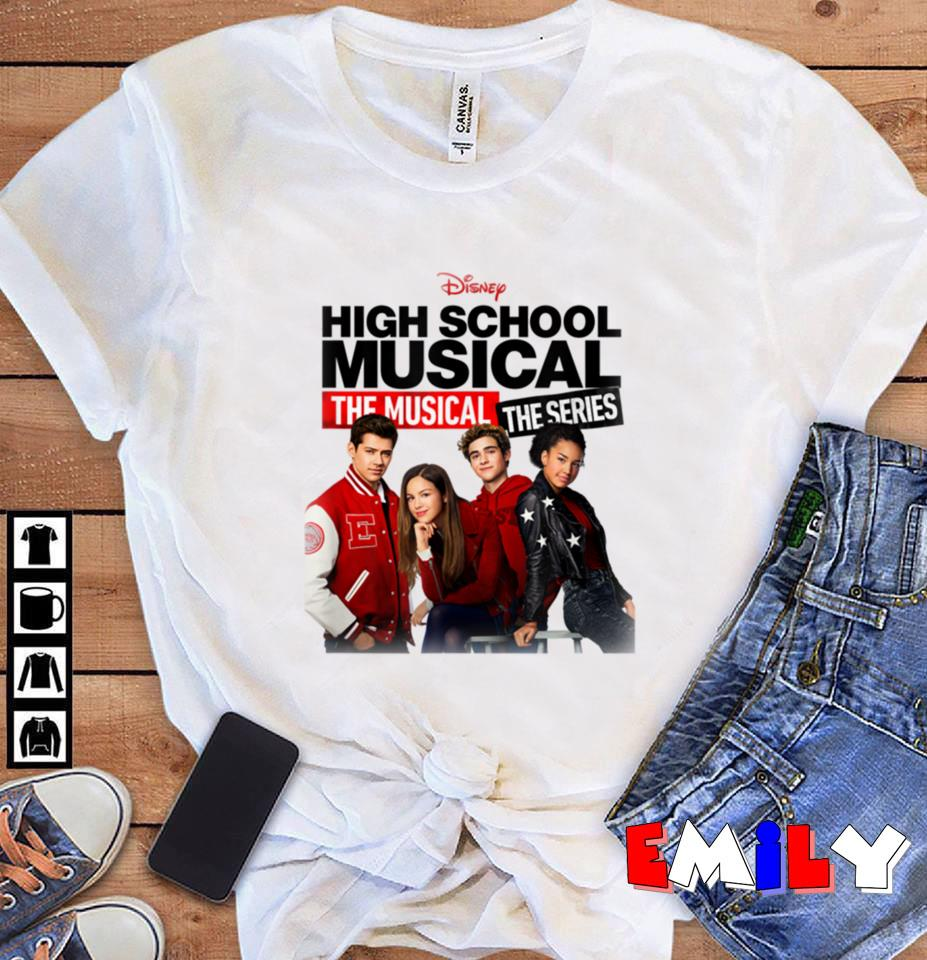 Disney High School Musical the musical series cast unisex-t-shirt