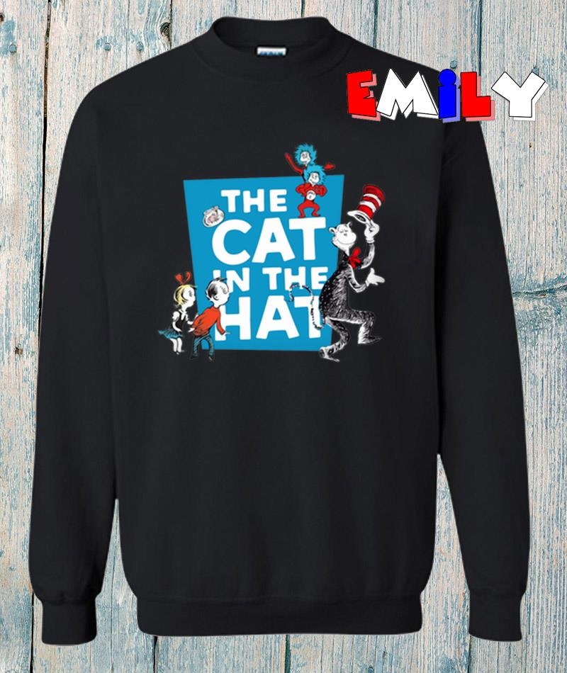 Dr Seuss and friend the cat in the hat sweatshirt