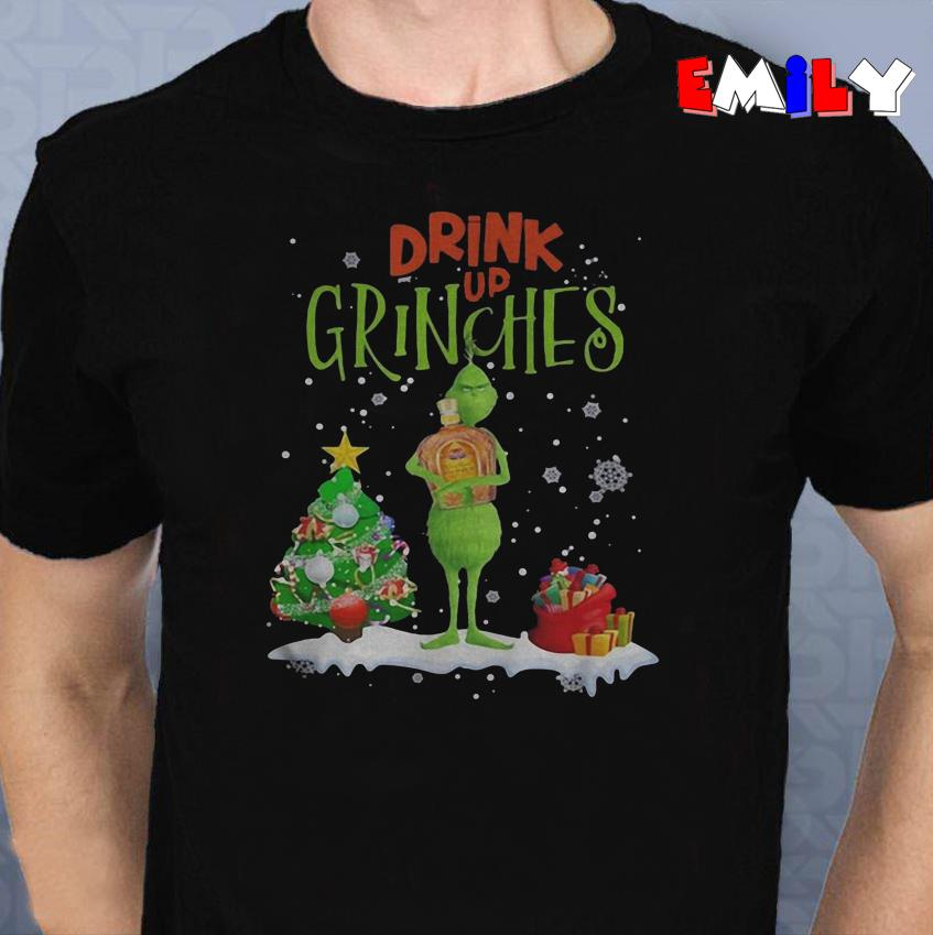 Drink up Grinches Christmas Crown Royal unisex shirt