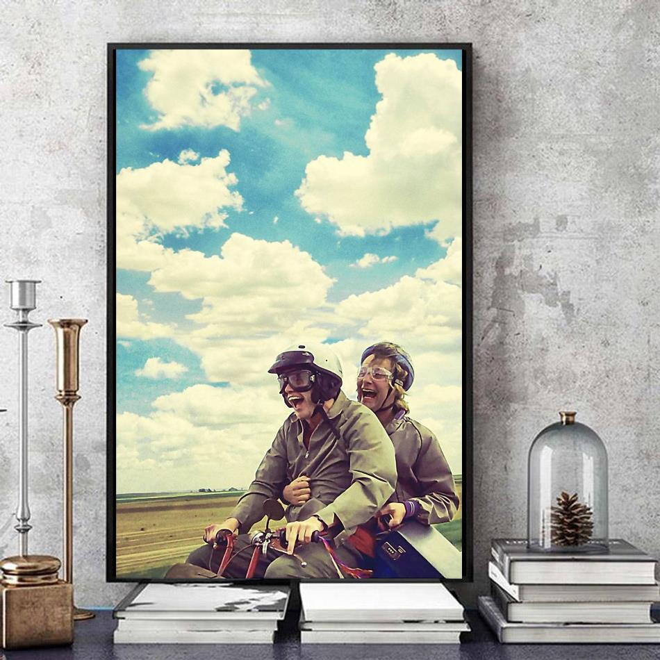 Dumb and Dumber Jim Carrey film poster canvas