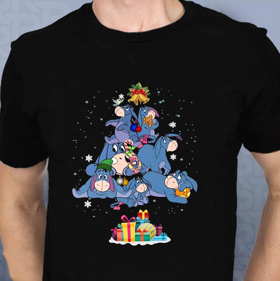 Eeyore Christmas tree ugly t-shirt