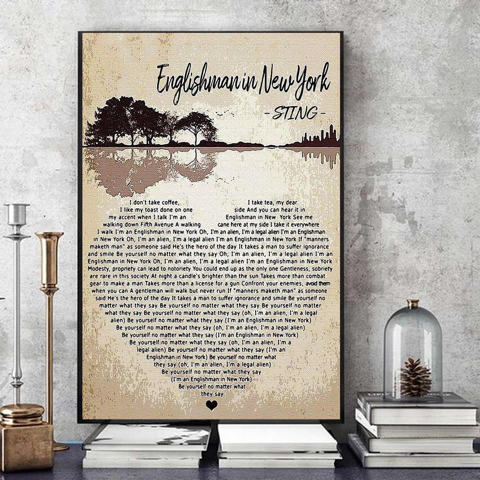 Englishman In New York Sting heart shape poster art
