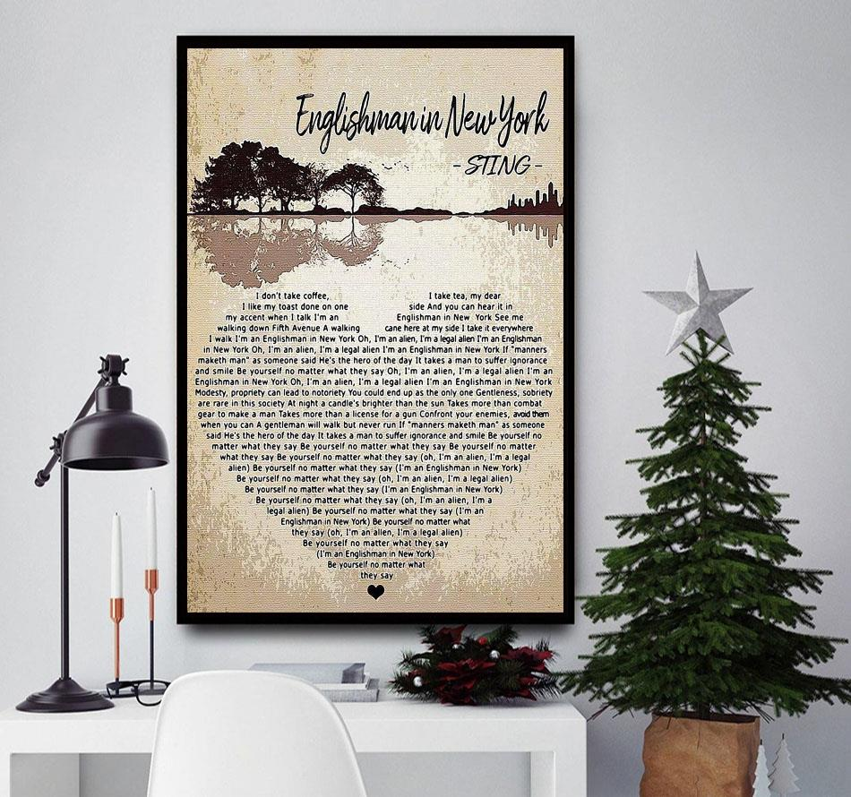 Englishman In New York Sting heart shape poster