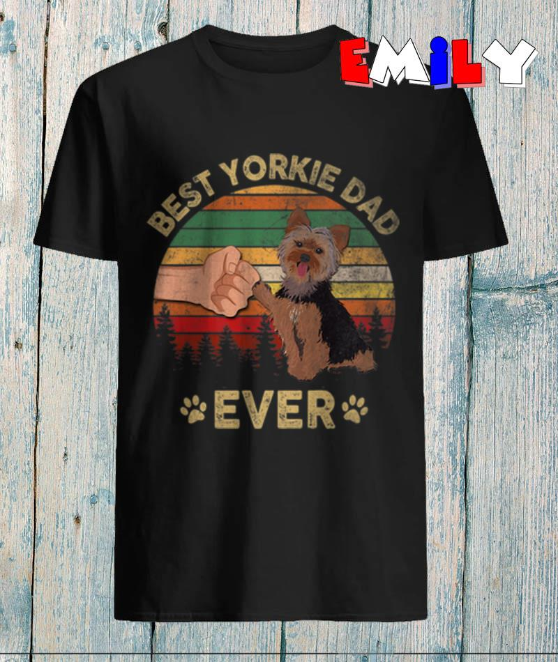 father-day-best-yorkie-dad-ever-vintage-t-shirt