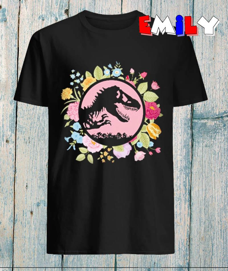 Floral Jurassic Park t-rex dinosaur