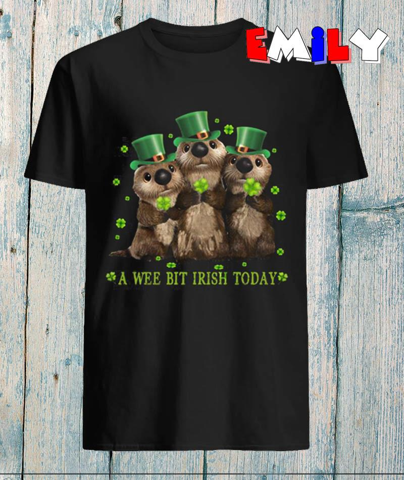 Funny Otters a wee bit Irish today