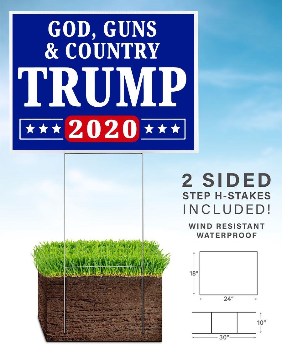 God Country Trump 2020 yard side