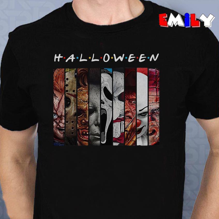 Halloween Friends horror characters unisex shirt