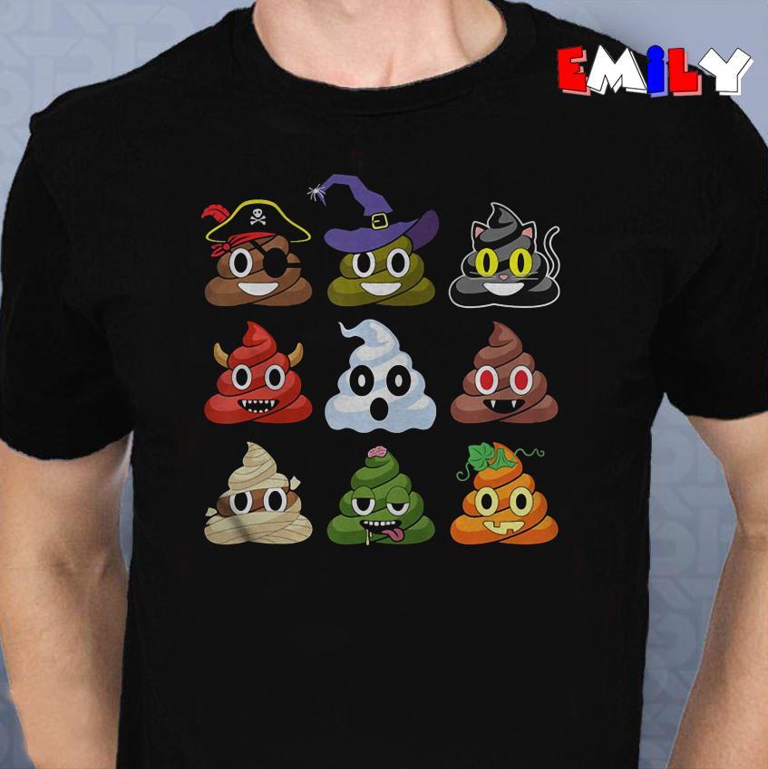 Halloween poop Emojis funny Halloween poop Emojis funny sweater shirt shirt