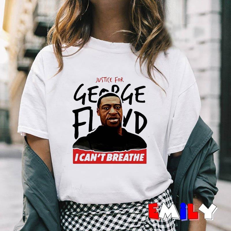 I cant breathe justice for George Floyd Black Lives Matter t-shirt