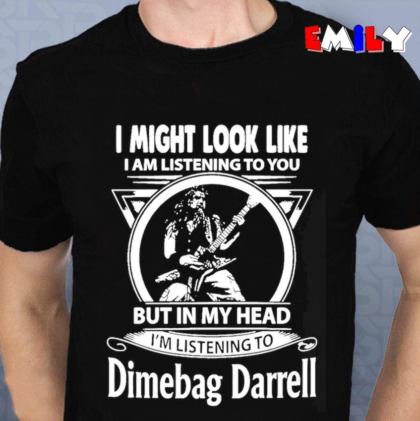 Im listening to Dimebag Darrell t-s unisex t-shirt